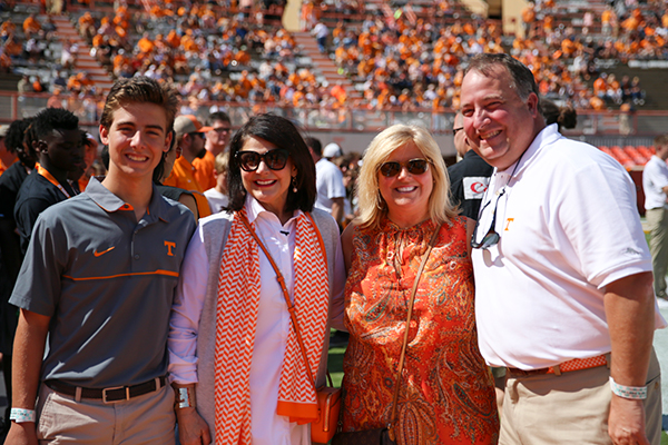 With my family in Neyland Stadium on game day