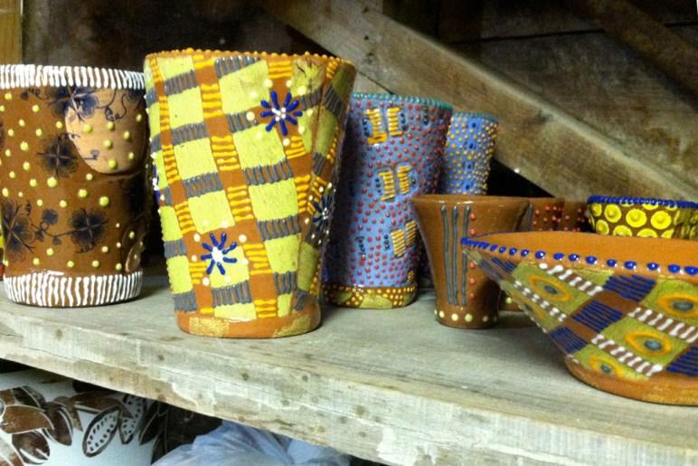 'shed cups on shelf