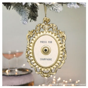 Champagne Lovers Gift Guide - Press for Champagne Christmas Tree Ornament