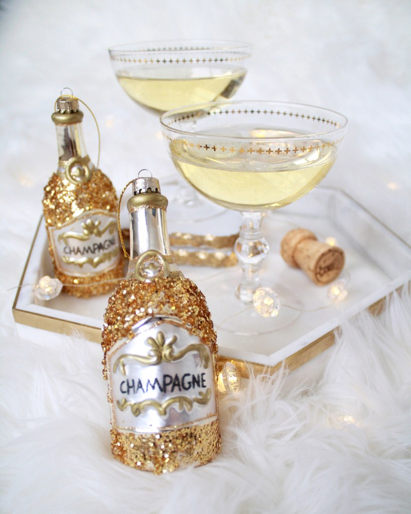 Champagne Lovers Gift Guide - Champagne Christmas Ornaments