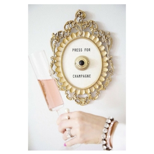 Champagne Lovers Gift Guide - Press for Champagne wall button