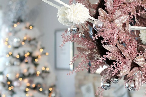 Festive Glam Christmas Home Tour on Chandeliers and Champagne