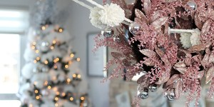 Glam Christmas home decor tour on Chandeliers and Champagne