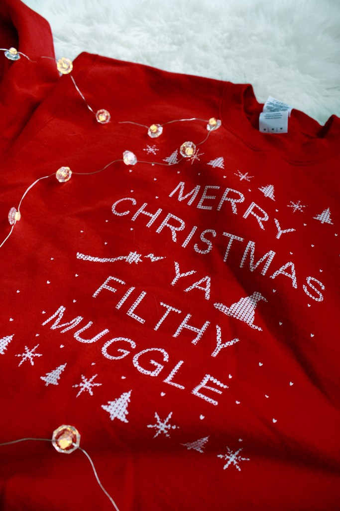 Cute Christmas Sweaters 2017: Merry Christmas Ya Filthy Muggle