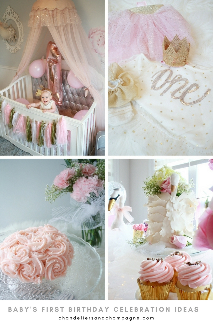 3 Easy First Birthday Ideas Birthday Outfit Decorated Crib And