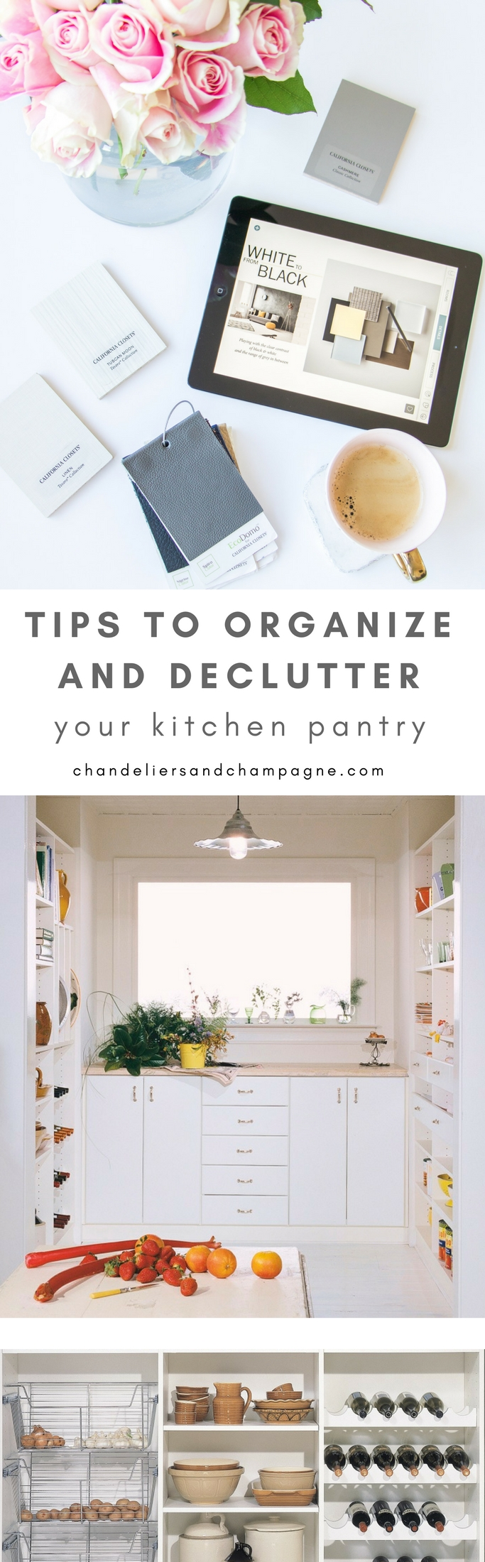 Tips to Declutter and Organize Your Walk-In Pantry • 3 Easy Steps to ...