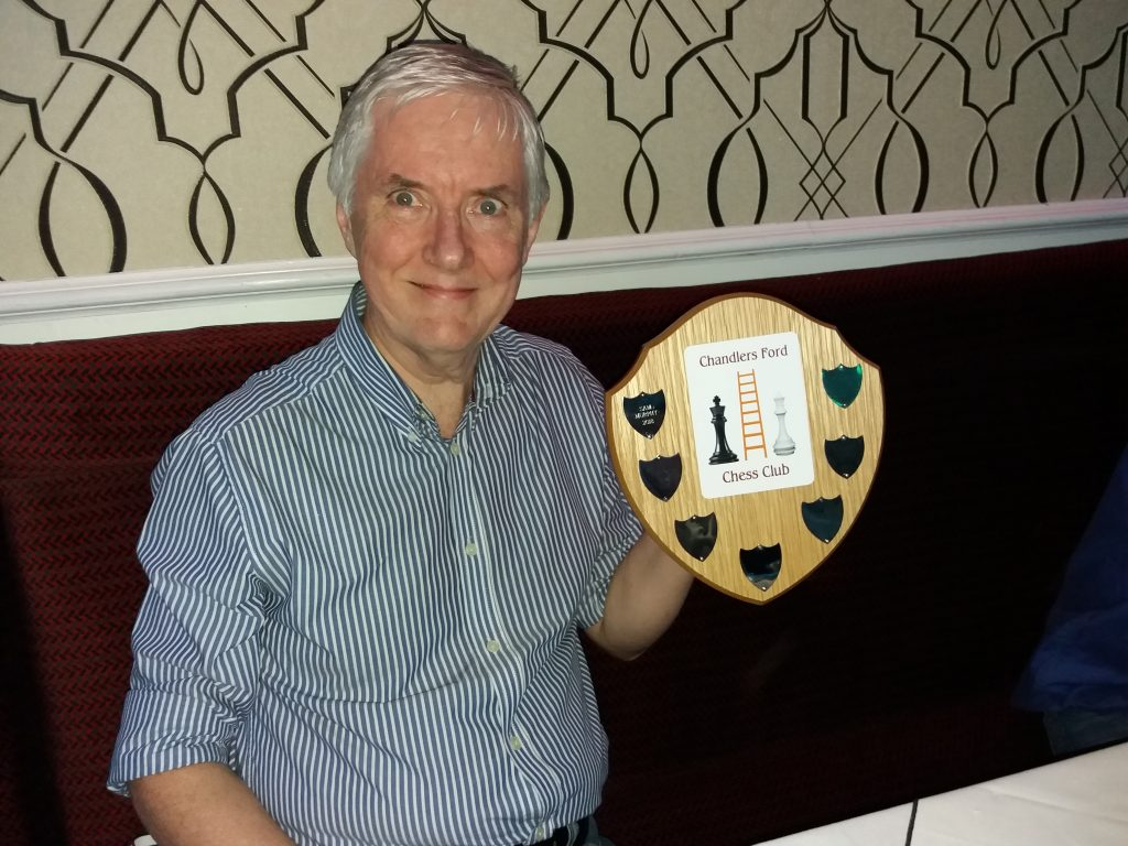 Sam Murphy with Chess Ladder Trophy