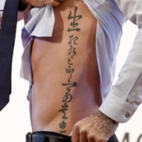 David Beckham's Chinese Tattoo