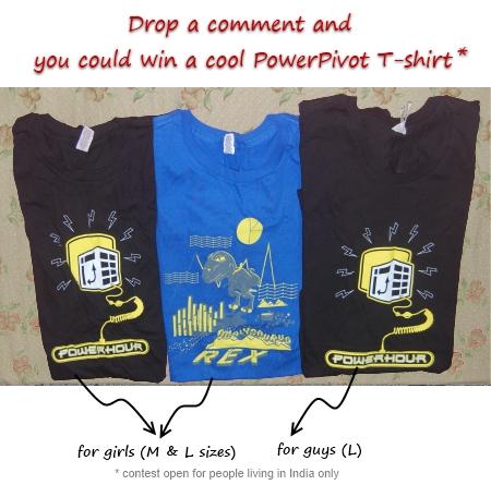 Power Pivot T-shirt Giveaway - Chandoo.org
