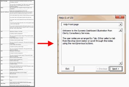 Dashboard Help Sheet Setup