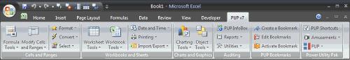 Excel PUP add-in by J Walk