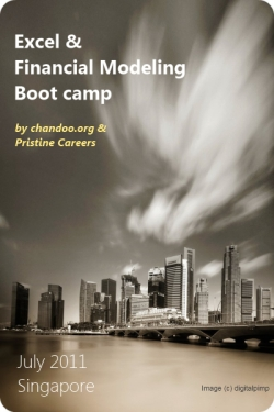 Excel & Financial Modeling Bootcamp in Singapore by Chandoo.org