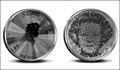 Dutch Architecture on a 5 Euro Coin