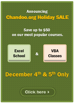 2103 Holiday SALE is now open. Click here to become awesome in Excel