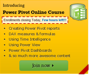 Power Pivot training from Chandoo.org - closing in a few hours