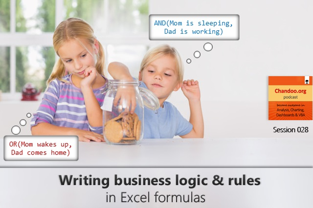 CP028 - How to tell business logic & rules to Excel formulas  - an introduction to Excel logic functions - Chandoo.org podcast