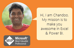 Welcome message from Chandoo