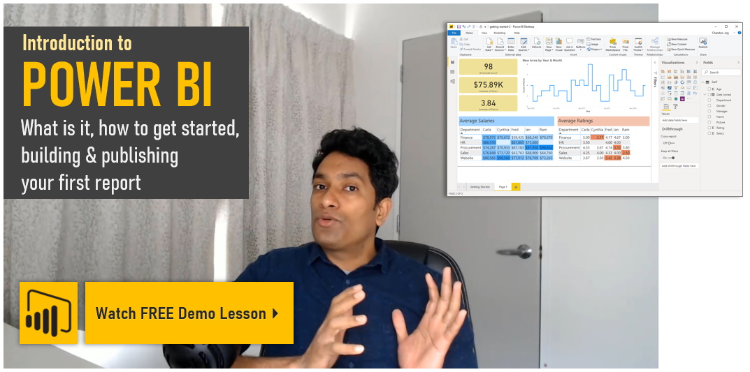 Free demo lesson - Getting started with Power BI