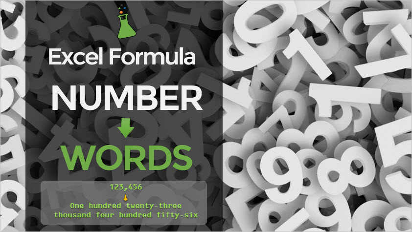 convert number to words with this excel formula
