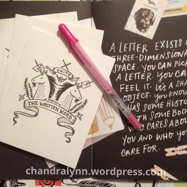 A Closer Look: Sakura Gellyroll Moonlight Pen and Hello Ducky Notecards