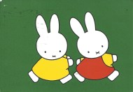 Week 1: From Johanna (Netherlands). Miffy, Nijntje in Dutch, Illustration by Dick Bruna