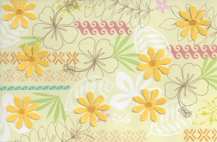 Handmade card by Jan, Momski on swap-bot. Scrapbook paper and flower punches