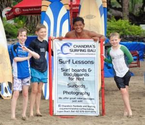 children's surf lessons Bali