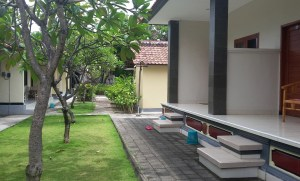 Legian guest house with garden views