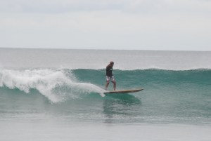 surfing legian beach