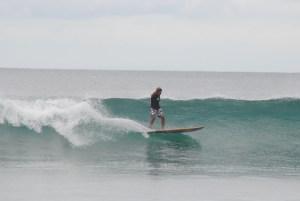 surfing legian beach