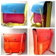 Handmade leather messenger bag Adjustable shoulder strap Made in Greece