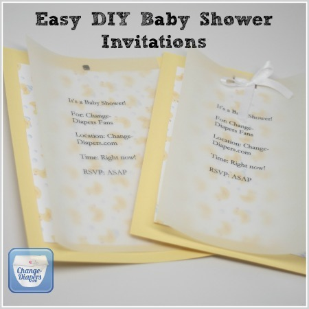 Diaper Baby Shower Invitation Template