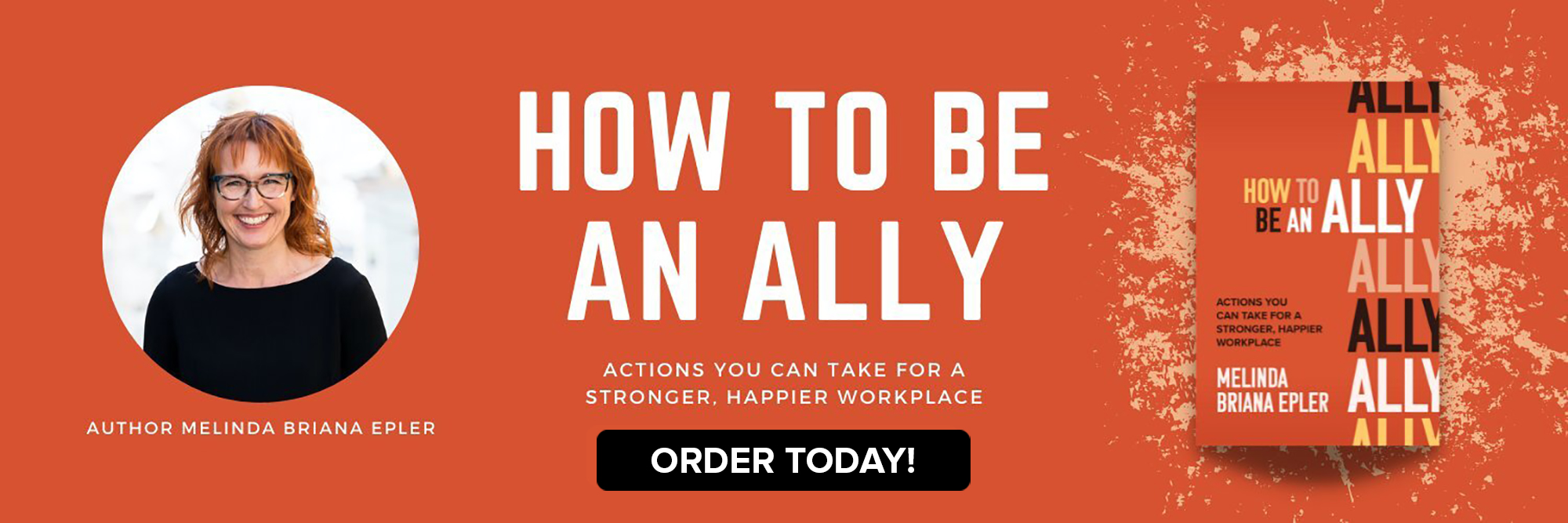 How To Be An Ally Book cover by Author Melinda Briana Epler Pre-Order