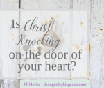 Is Christ knocking on the door of your heart? Have you chose to shut the door or swing it wide open? Let Him in and take you on an extraordinary journey.