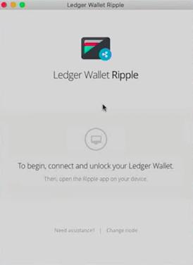 Login to Ledger Wallet