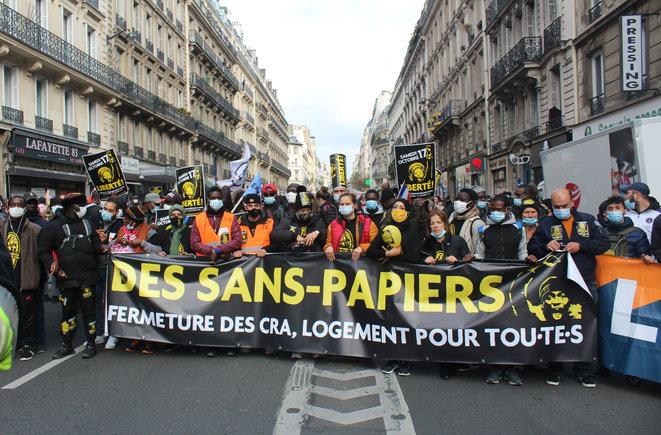 Marche des sans papiers déc 2020