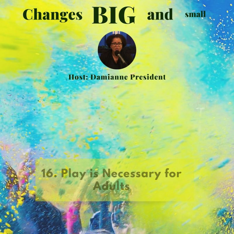 Episode 16 Cover Art - Play is Necessary for Adults on Changes BIG and small