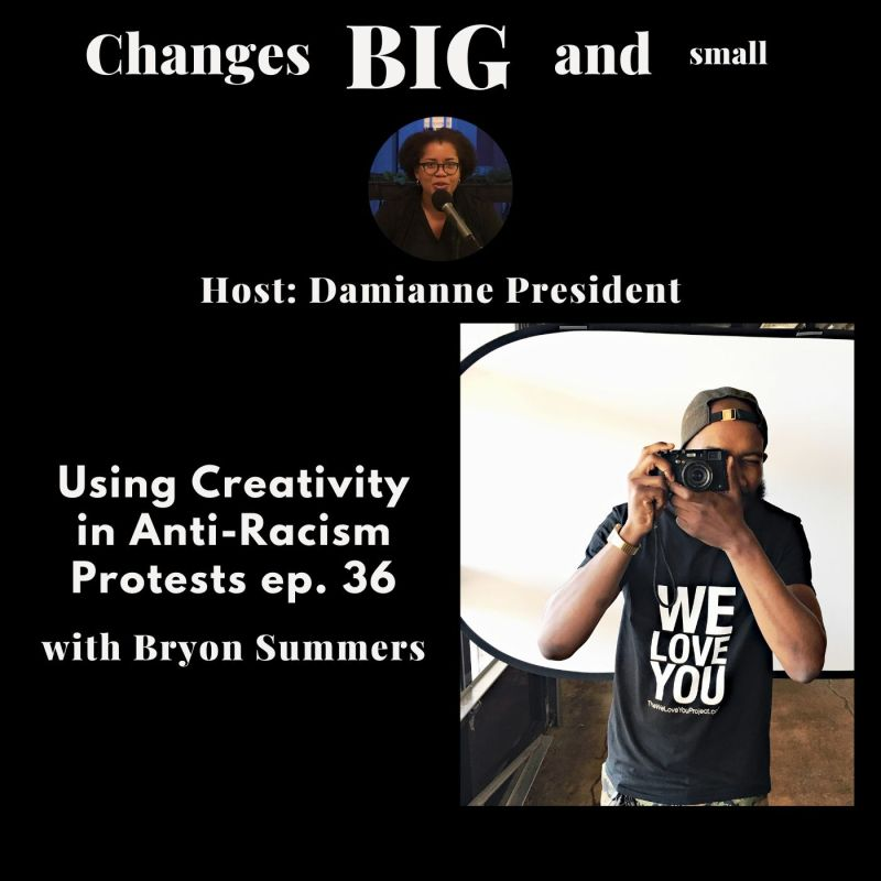 cover art of changes big and small profiling Bryon Summers with his camera fighting racism