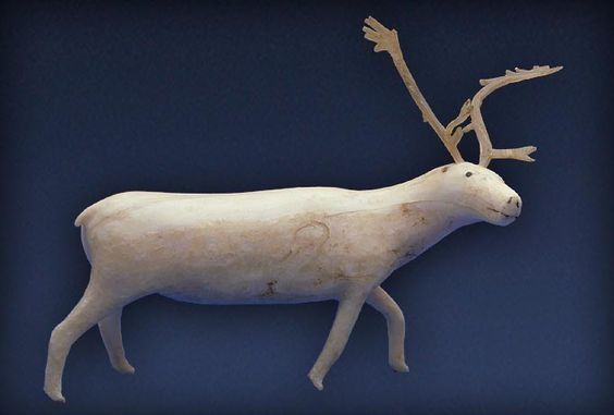 Inuit Caribou Figurine in wood