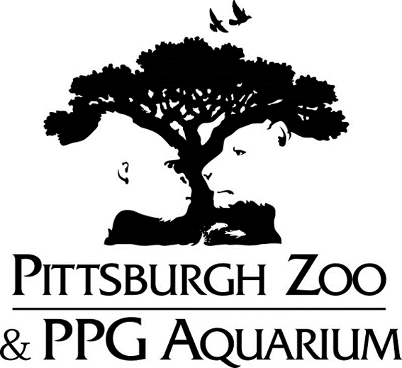 A figure-ground image from the Pittsburgh zoo and the PPG Aquarium. It shows a tree as the figure and a gorilla and big cat as the ground.