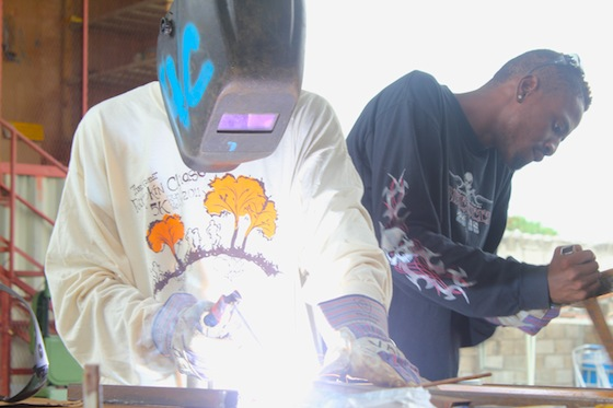Welding workshop at Haiti Communitere
