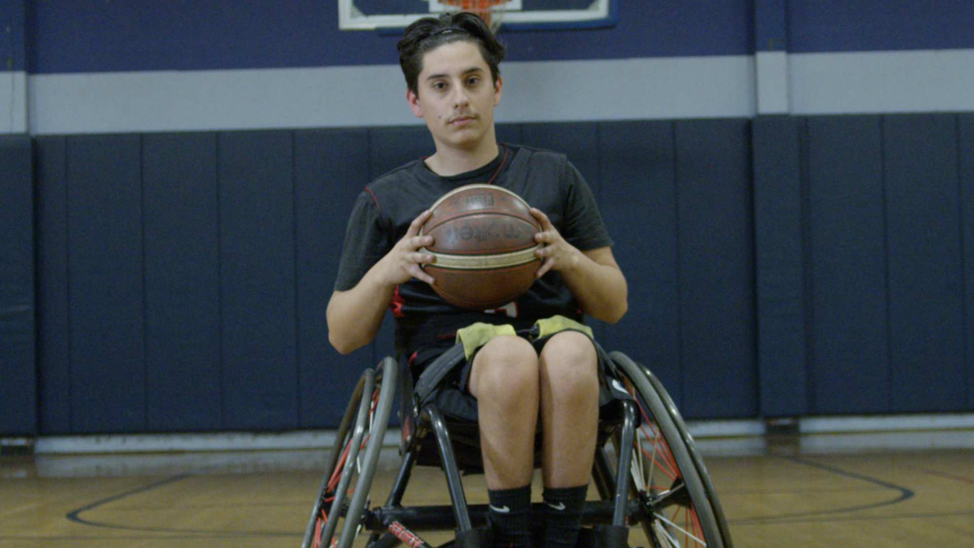 Danny playing wheelchair baseball.