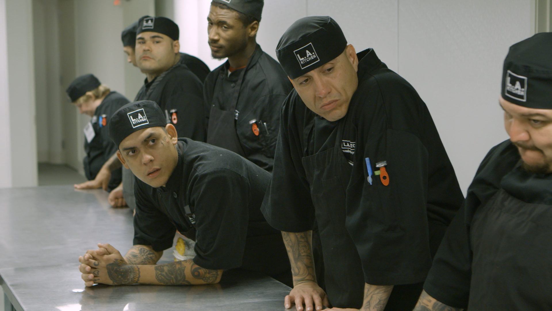 LA Kitchen students during morning meeting.