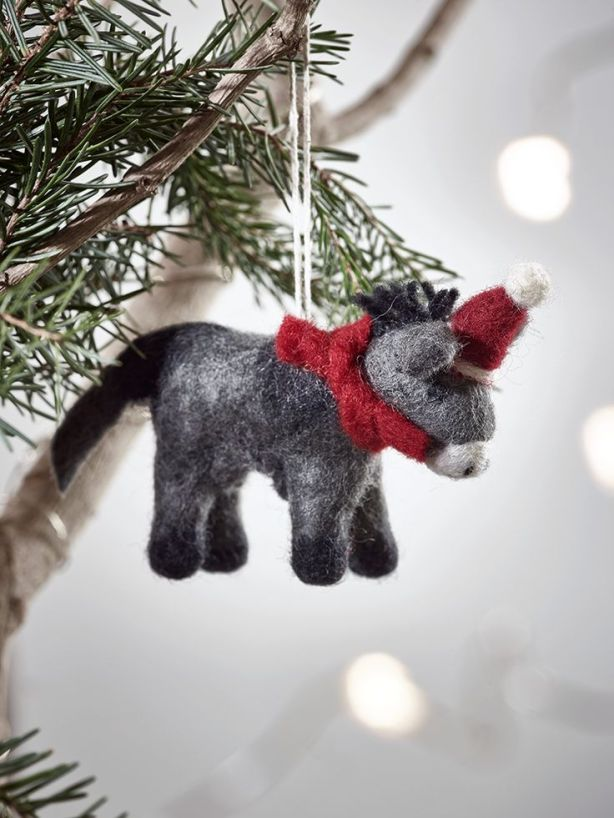 Felted Hanging Donkey