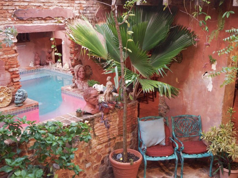 Outside terrace and garden at The Gallery Inn, Puerto Rico | Letters from abroad: Puerto Rico and Old San Juan | Changing Pages #Travel #Photography | BL | Black Lion Journal | Black Lion
