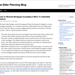 The Elder Planning Blog