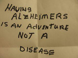 Having Alzheimer's