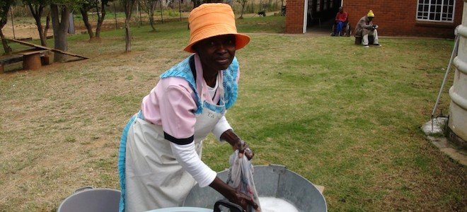 Imagine Doing Laundry By Hand For 60 Elders…