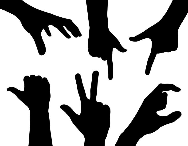 Hand Signal Silhouettes - What's Your Relationship with Aging? - ChangingAging.org