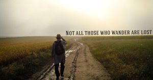 Not All Those Who Wander Are Lost - Quote Image - ChangingAging